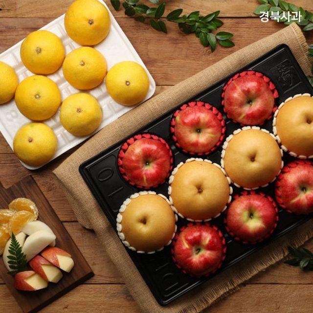 [명절 기획] 프리미엄급 과일 SET 사과6과 + 배4과 (사과,배 4.5kg)+ 황금향 2.5kg