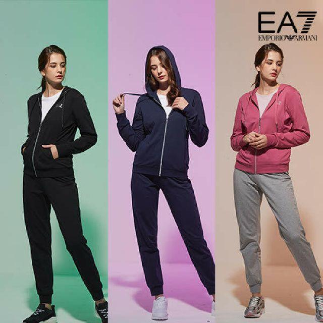 EA7 아르마니 여성 후드집업 + 팬츠 2종