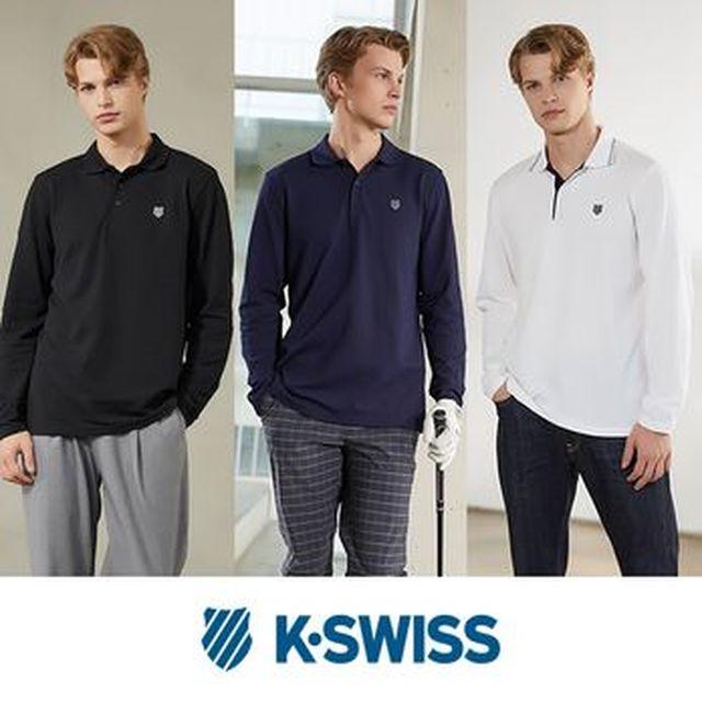 [국민카드5%할인]K-SWISS 남성 PK 티셔츠 3종