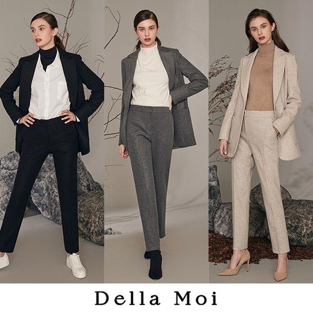 [Della Moi] 델라모아 20 WINTER 시그니처 수트 셋업 2PCS