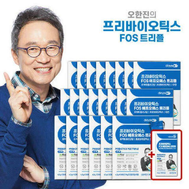 (재)[패밀리]프리바이오틱스 FOS 트리플 (4.3g*30포)*22박스(22개월)+체험분10포
