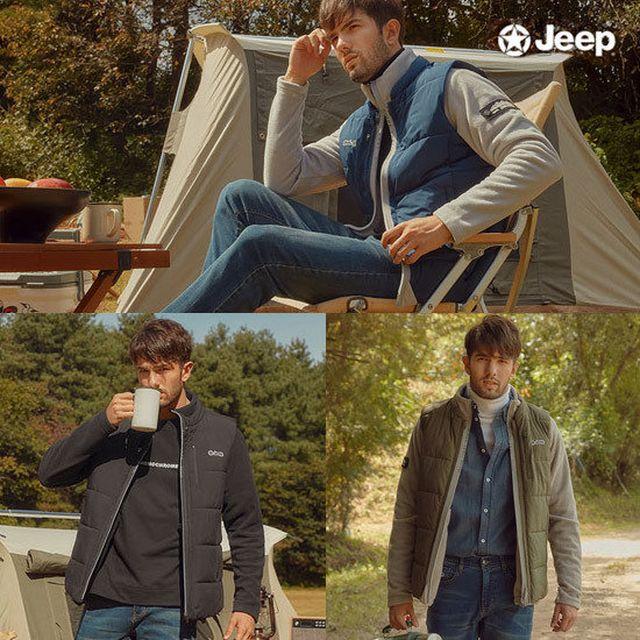 JEEP 남성 2 IN 1 자켓 (베스트+플리스) + 데님팬츠 SET