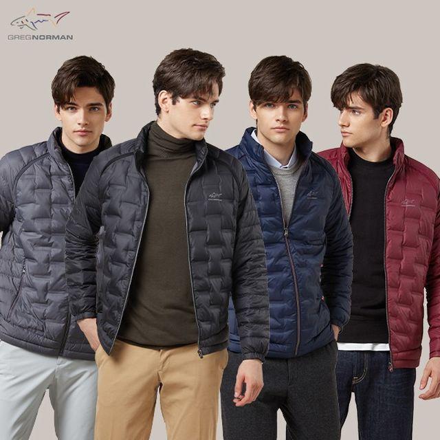 그렉노먼 튜브 스윙 경량 구스다운 재킷 남성용