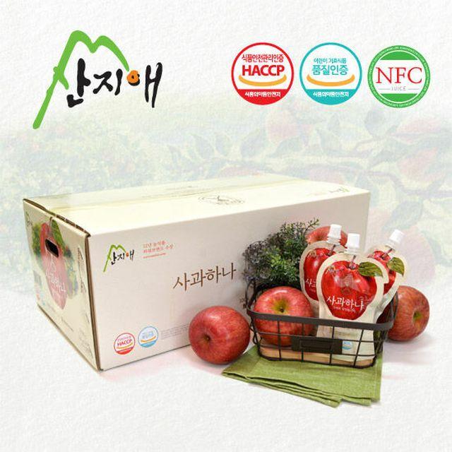 100% 사과원액 사과주스 [산지애]사과즙 60팩
