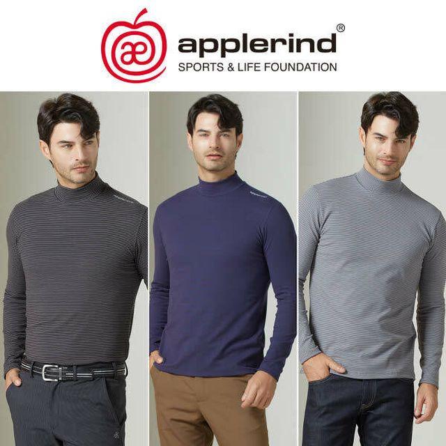 애플라인드 남성 모카 웜 하이넥 셔츠 3종