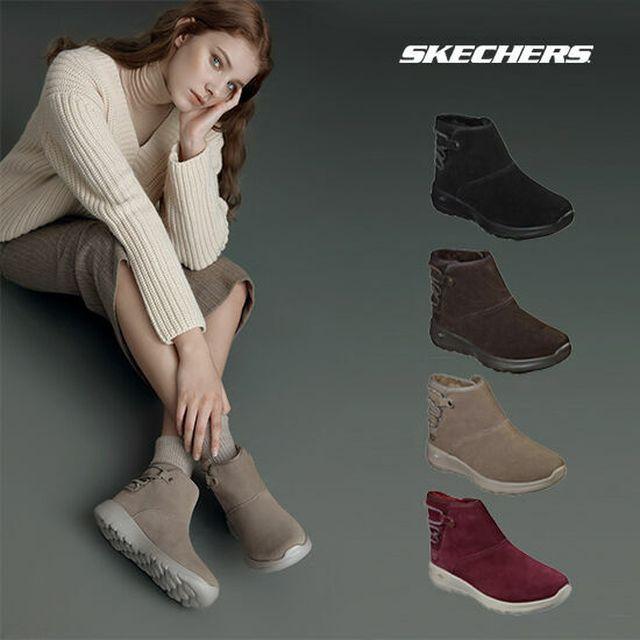 한겨울에도 따뜻하고 스타일리쉬하게, GS 특가 스케쳐스 여성 고워크 소가죽 부츠 퍼 방한 부츠 (발편한 신발)