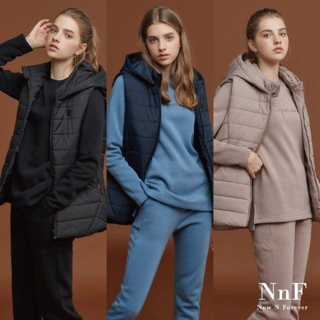 [기획초특가] NNF 여성 이지 트레이닝 세트(총 3종/ 패딩베스트+기모 상하의)