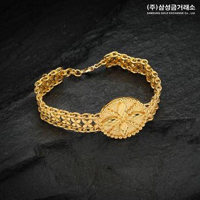 (주)삼성금거래소 24K 순금 라일락 시계 팔찌 37.5g