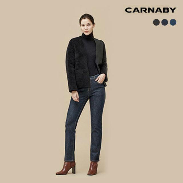[CARNABY]캐너비 여성 울블렌디드 보아퍼 본딩 데님 3종