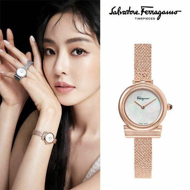 페라가모/공식수입 NEW 간치니 시계(로즈)+카드지갑 SFIK009-19