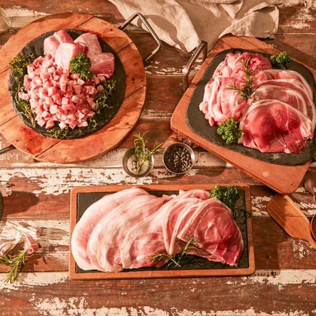 [심플에프앤비] 청정 제주에서 자란 돼지 뒷다리살 3종 5팩(구이 500g*2팩+볶음 500g*2팩+찌개500g*1팩)