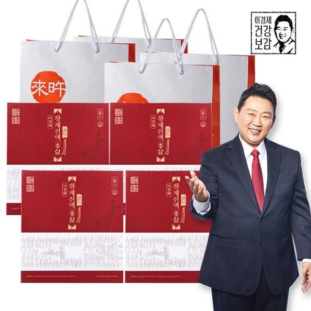 이경제 황제진액 홍삼 골드 30포 x 4박스 (총 120포) + 쇼핑백 4장