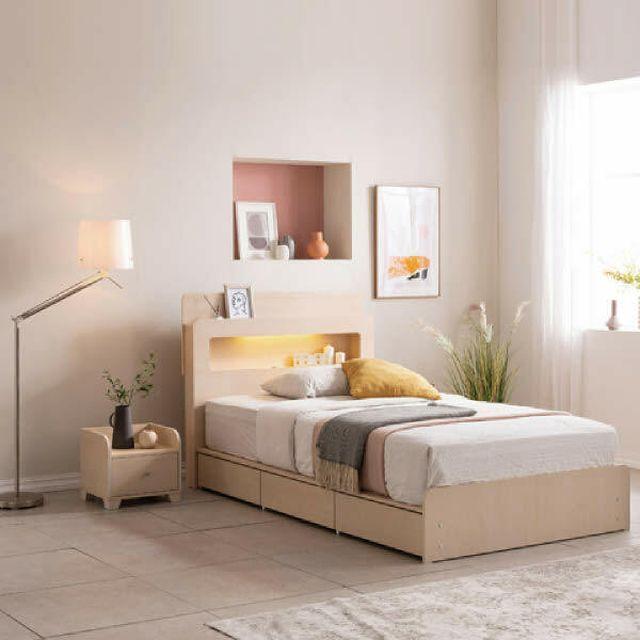 에넥스 클라우드 멀티수납 LED 침대(SS)