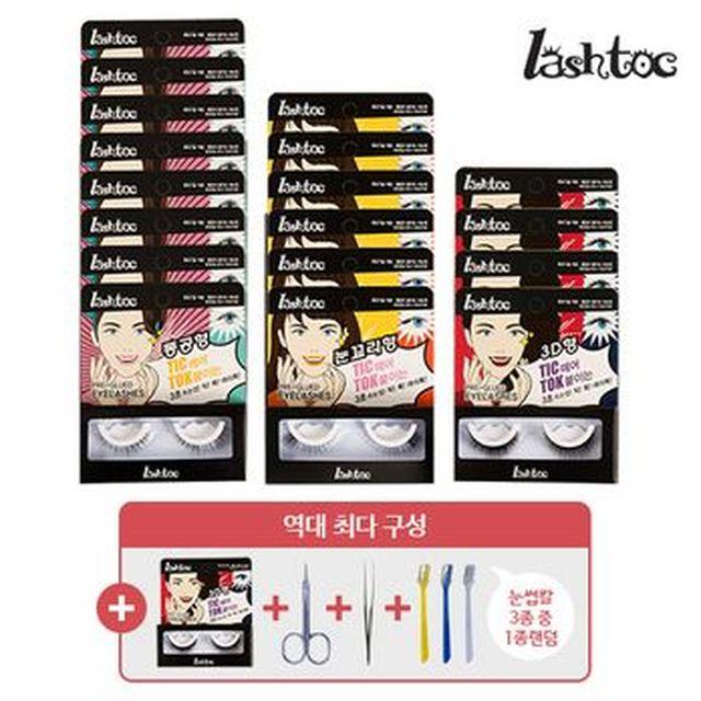 [국민카드5%할인]래쉬톡 원터치 속눈썹(동공형X8+눈꼬리형X6+3D형X4)+눈썹정리세트