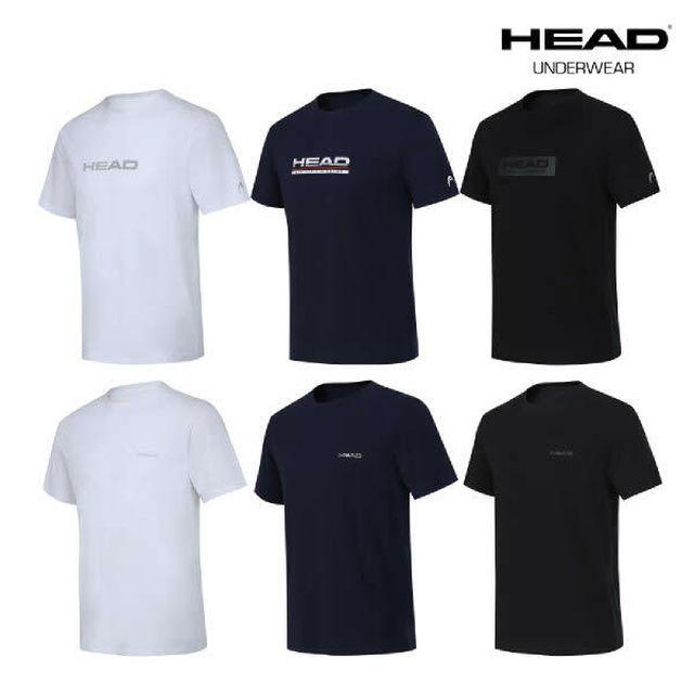 [남녀공용] HEAD 헤드 데일리 코튼 언더티셔츠 6종 패키지