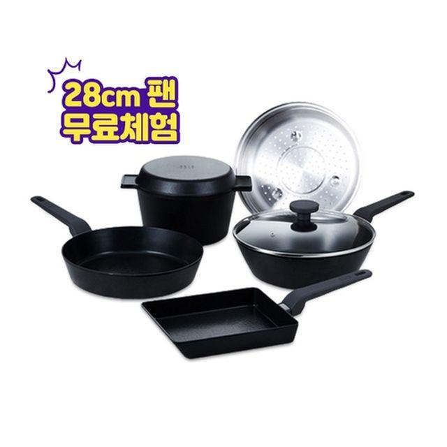 [오슬로] [최신상]노르드 IH 프라이팬 세트(28cm프라이팬 무료체험)
