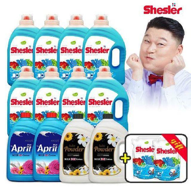 [카드 5%할인](최다용량/초저가/로하스 인증)강호동의 아토세이프 쉬슬러 고농축 액체세제 풀세트