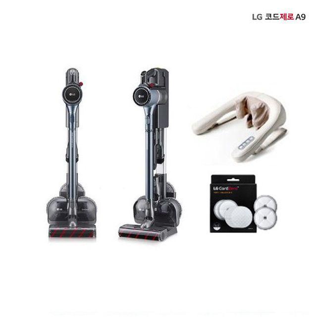 [아이언그레이] LG 코드제로 A9S 무선청소기(A9370IK) + [특별사은품] 오아 무선 목어깨 안마기+일회용청소포20매