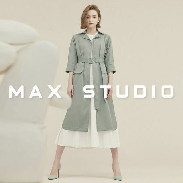 막스 스튜디오 벨티드 짚업 오픈 트렌치 원피스 1종
