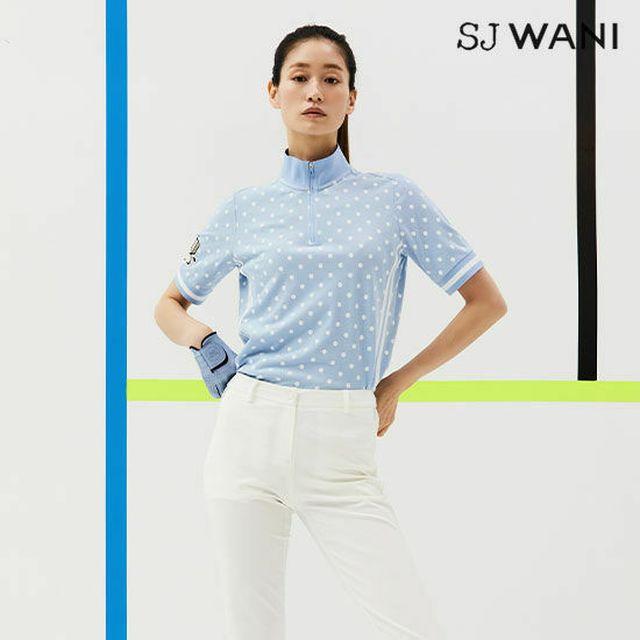 2021년 십주년 기념,손정완다운 여자의 골프웨어,기능성소재 [와니골프]SJ WANI GOLF 피케티셔츠1종