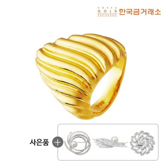 [한국금거래소]24K 순금 컷팅 쉘 반지 18.75g
