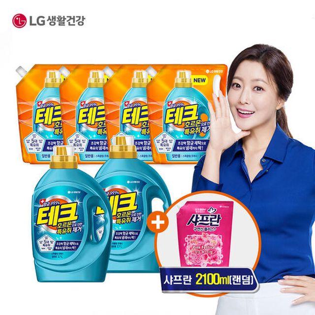 엘지생활건강 테크 특유취제거 세탁세제 GS특별 구성