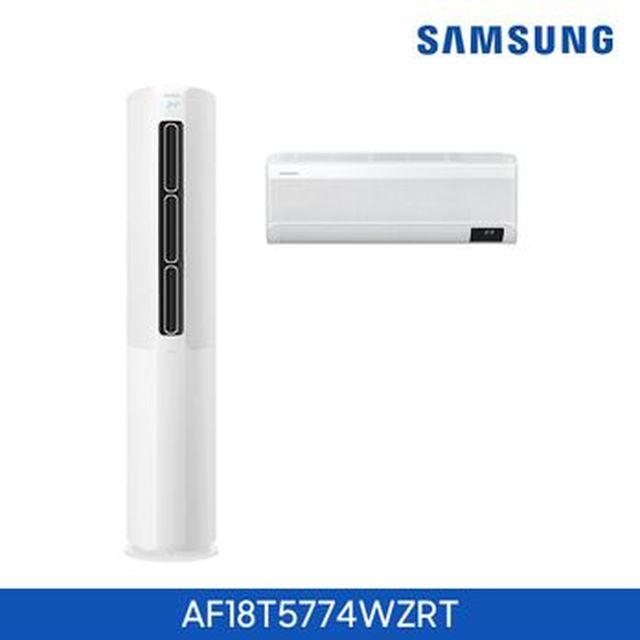 [신한카드5%할인]삼성 무풍 에어컨 슬림 18형 홈멀티 화이트(절전)(AF18T5774WZRT)+삼성 핸드 청소기