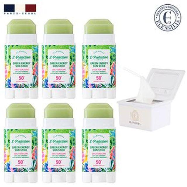 [삼성카드5%할인]엘렌실라 그린 에너지 썬스틱 6개+박스마스크