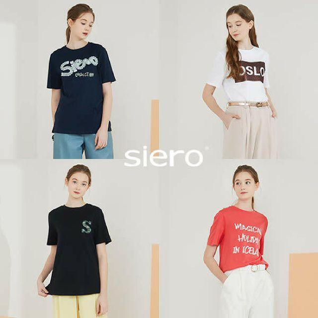 [Siero] 시에로 여성 수피마 100 아트웍 티셔츠 4종