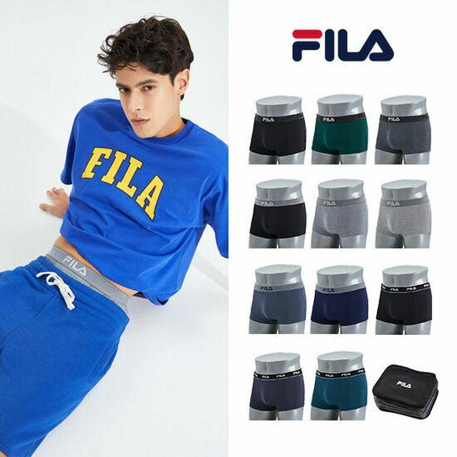 GS단독, 21년최신상 [GS마이샵] FILA 휠라 남성속옷 블랙에디션 드로즈11종+트래블백1종