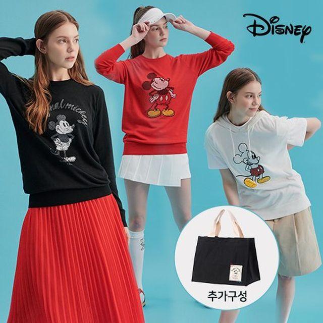 [디즈니골프]디즈니 오리지날 썸머쿨라이트 여성니트 3종+멀티백