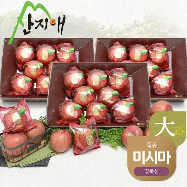 [산지애] 씻어나온 사과(대과) 2.5kg x 3박스 총 7.5kg