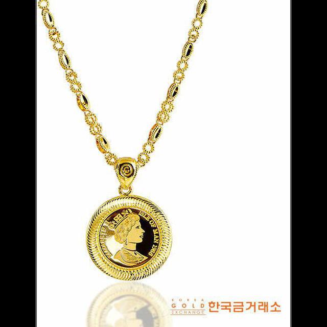 한국금거래소 24K 순금 엘리자베스 목걸이 (37.5g) + 순금 카네이션(3.75g)