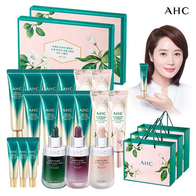 [플라워에디션+캡쳐앰플] 최신상 AHC아이크림 시즌9+블루밍 플라워 아이크림 + 쇼핑백
