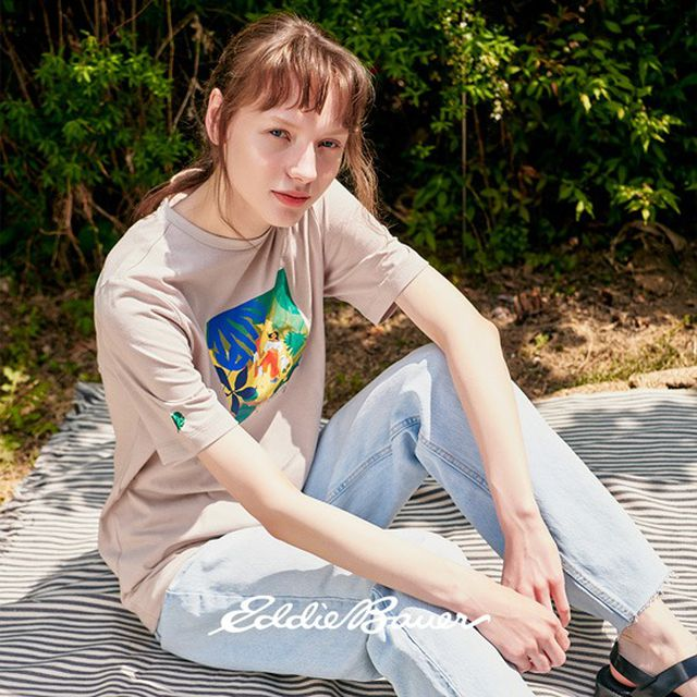 에디바우어 x LILY KONG 티셔츠 여성 4종 + 에코백