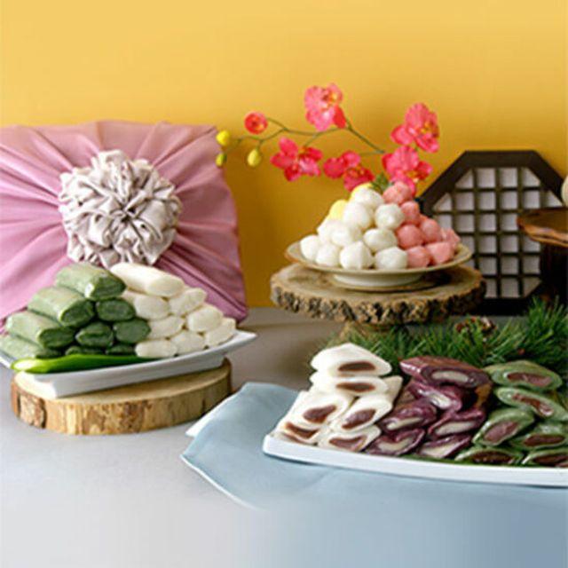 흰앙금절편+쑥앙금절편+흑미앙금절편+흰쑥가래떡+3색꿀떡 시루조아 굳지않는 떡 8종 5.1kg세트 (72개입)