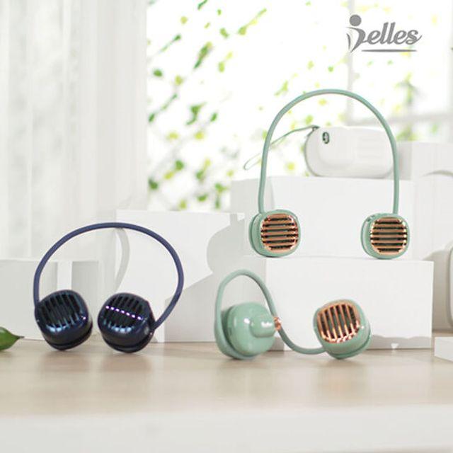 벨레스 포켓팬 넥밴드 선풍기 2개 (그린+블루)