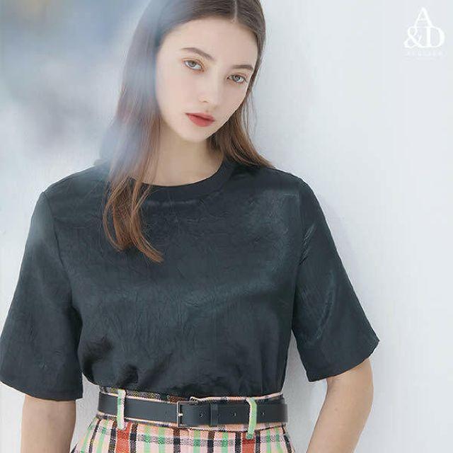 [론칭가 69900원] 에이앤디 아뜰리에 21 Summer 링클 글로시 새틴 블라우스 4종