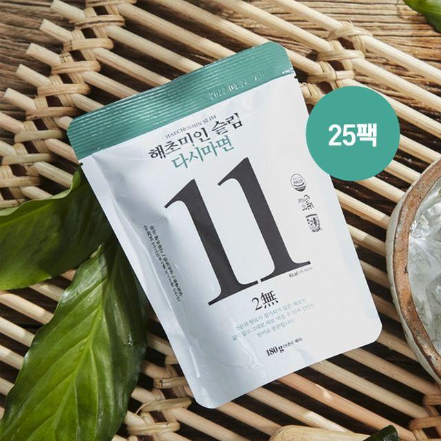 해초미인 슬림 다시마면180g 25개 (비빔소스15개+메밀소바소스10개+김스프5개)
