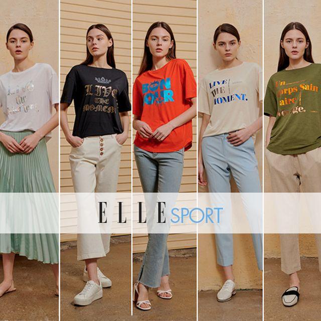 엘르 스포츠 여성 그래픽 티셔츠 5종
