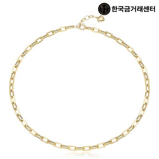 한국금거래센터 18K 클립 체인 하트 목걸이