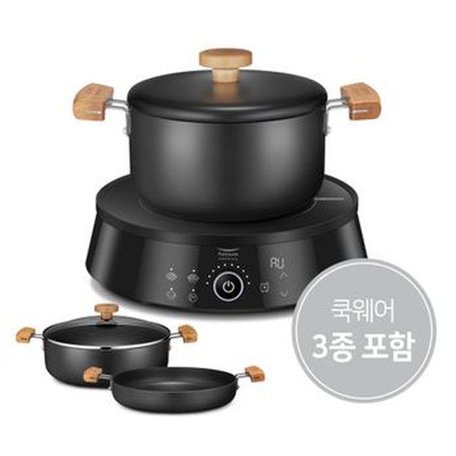 풀무원 고메 자동조리인덕션+쿡웨어3종세트