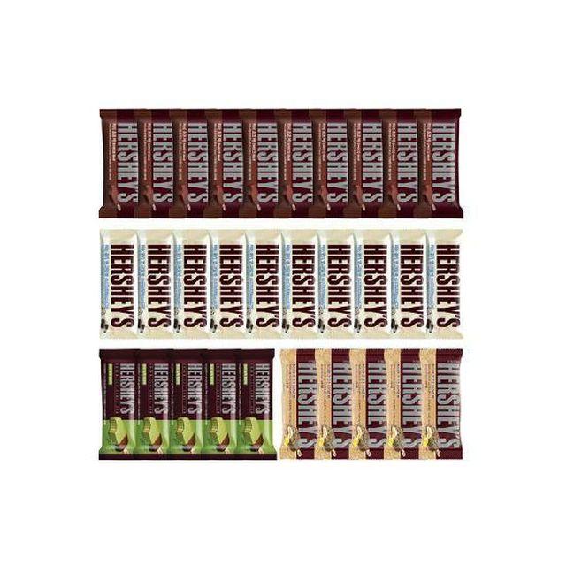 [롯데5%할인][허쉬] 초코바 10개 + 쿠키앤크림바 10개 + 녹차초코바 5개 + 초코크런치레몬바 5개