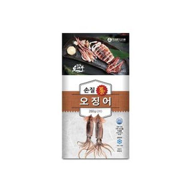 [농협카드5%할인]자연산 손질 통오징어 10팩/총 20마리
