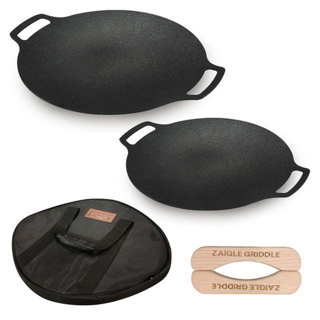 자이글 IH캠핑그리들 4종 세트(36cm+30cm+전용가방+손잡이)