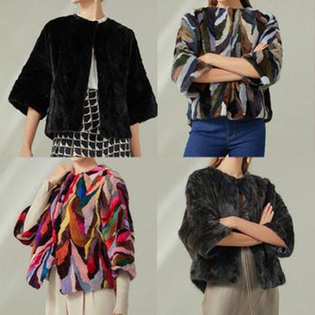 유로컬렉션 21FW 밍크 레이 하프 자켓