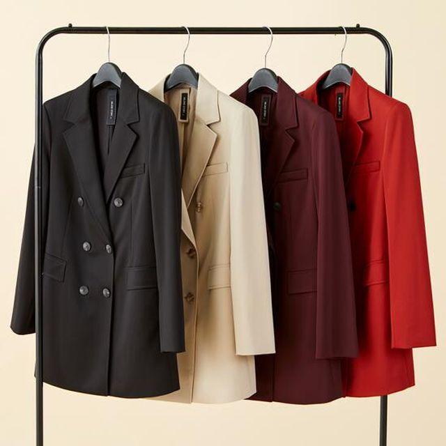 밀라노스토리 슬림 텐션업 재킷