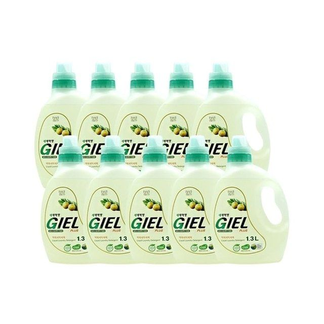 [GIEL] 세제혁명 NEW 지엘플러스 1.3L * 10통 일반세탁기 드럼세탁기 겸용