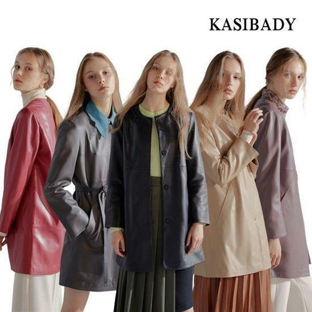 [현대5%할인] *가죽의 명가* Kasibady 카시바디 에르미 양가죽 하프코트