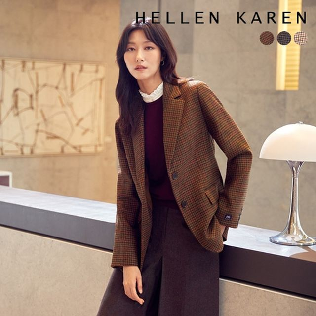 [헬렌카렌] THE PREMIUM 영국 MOON 울100 재킷